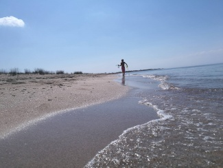 море Евпатории Шуня горизонт